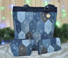 Amazing patchwork denim bag