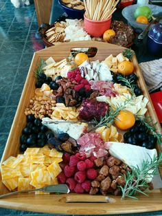 Fruit and cheese tray- Thanksgiving 2015