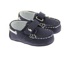 Ralph Lauren Baby Boys Navy Sander Canvas Boat Shoe
