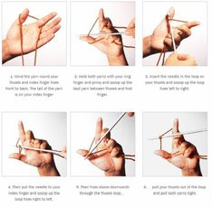 how to cast on knitting for beginners | Long Tail Cast On
