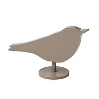 This sleek bird silhouette conceals a digital clock, which can be set to play two different kinds of birdsong as well as a traditional alarm sound. Unlike an ordinary clock, the digital time display appears on the back of this clock, allowing its earthy brown, natural imagery to blend unobtrusively into your decor.