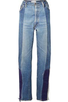 Tre   Selena patchwork boyfriend jeans   NET-A-PORTER.COM
