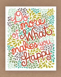 11x14in Happy Quote Illustration by unraveleddesign on Etsy, $35.00