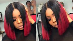 How To make a Blunt Bob Wig Start to finish Ombre 1/b Burgundy [Video] - https://blackhairinformation.com/video-gallery/make-blunt-bob-wig-start-finish-ombre-1-b-burgundy-video/