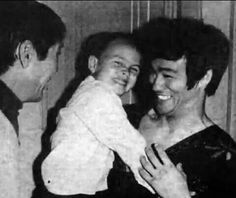 Laughing with daddy Bruce Lee, Brandon Lee, Little Dragon, Martial Arts, My Hero, Celebrities, Crow, Ww2, Laughing