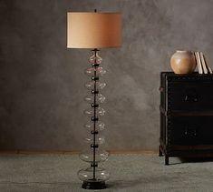 Estelle Stacked Gl Floor Lamp Base