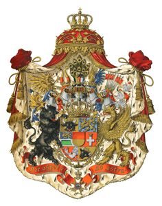 Grand Duchy of Mecklenburg-Strelitz - House of Mecklenburg - The Grand Duchy consisted of two detached parts, Neustrelitz on the east of Mecklenburg-Schwerin, and Ratzeburg on the west. Medieval, Holy Roman Empire, Chivalry, Knights Templar, Family Crest, Crests, Coat Of Arms, Middle Ages, Royalty