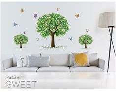 Eco Removable 3D Butterly Tree Wall Stickers Vinyl Living Room Wall Stickers Home Wall Decor Poster vinilos paredes sticker wall