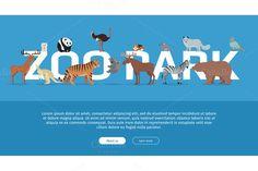 Zoo Park Banner. Website Template @creativework247
