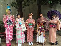 """""""【着物】 原宿ファッションウォーク! みんなかわいかったよー! #kimono #キモノ #着物 #きもの #yumi_kimono #yamamotoyumi #やまもとゆみ #kawaii #harajuku #ラフォーレ原宿 #tkm"""""""