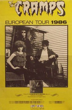 Poster for the Cramps European Tour Tour Posters, Band Posters, Music Posters, Punk Poster, New Flyer, Music Flyer, The Cramps, Into The Fire, European Tour