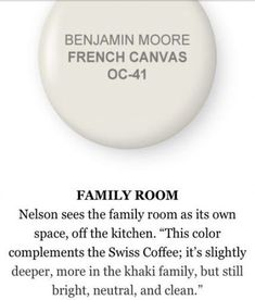 French Canvas by Benjamin Moore-for neutral color! French Canvas by Benjamin Moore-for neutral color! Exterior Paint Colors For House, Bedroom Paint Colors, Interior Paint Colors, Paint Colors For Home, House Colors, Paint Colours, Stain Colors, Interior Design, Behr Colors
