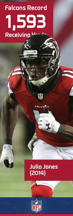 Records are made to be broken, and Atlanta's Julio Jones did just that last year with his phenomenal 1593 receiving yards, a new Falcons record.