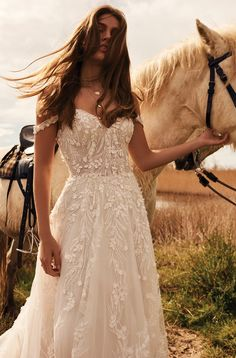 undefined Relaxed Wedding Dress, Country Style Wedding Dresses, Lace Wedding Dress, Wedding Dress Trends, Dream Wedding Dresses, Bridal Dresses, Champaign Wedding Dress, Fall Wedding Gowns, Wedding Ideas
