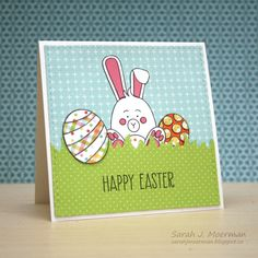 Hi everyone!     I'm back today to share another card featuring the now SOLD OUT Simon Says Stamp March 2017 Card Kit: Some Bunny ! Fortun...