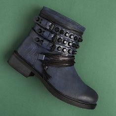 Ghete Amalia albastru Biker, Boots, Fashion, Crotch Boots, Moda, Fashion Styles, Shoe Boot, Fashion Illustrations