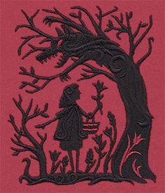 Fairytale Shadows - Red Riding Hood design (UT9970) from UrbanThreads.com