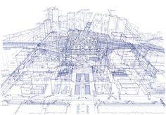 Impresionantes Ilustraciones de Rayos X de las Estaciones de tren de Tokio - Noticias de Arquitectura - Buscador de Arquitectura