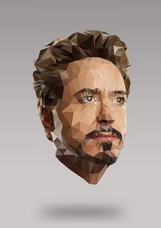 Tony Stark - Low Polygonal