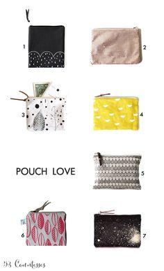 Favourite pouches on the blog :) Bolsitos favoritos en el blog de 53 Countesses www.53countesses.blogspot.com