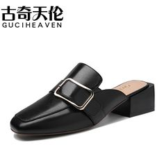 Guciheaven Buckle New Designer Slip On Outdoor Walking Soft Leather Fashion Pumps,2017 Summer Dress Chaussures Mujer Footwear