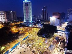 Makin malam makin rame dan menguning #malaysiaBergolak