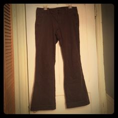 "Wide bootcut American Eagle pants Dark brown wide bootcut pants. GREAT condition and comfortable. PERFECT for the fall weather. I'm 5'4"" and they ran a little long on me. American Eagle Outfitters Pants"