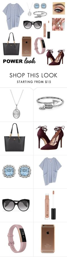 """""""My 2017 Look"""" by mgarcia-iii ❤ liked on Polyvore featuring Pandora, Alex and Ani, Coach, Massimo Matteo, Melissa McCarthy Seven7, Alexander McQueen, Anastasia Beverly Hills, Fitbit and plus size dresses"""