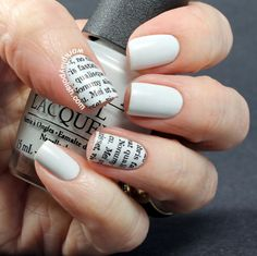 Too bad this plate is currently unavailable - Lorem Ipsum nails  - OPI My Boyfriend Scales Walls stamped with VL004