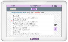 tablette tactile senior - Messagerie