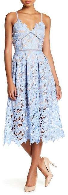 Love...Ady Chemical Lace Midi Slip Dress