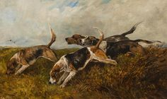 John Emms, Hounds on the scent.