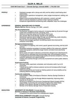 sample resume templates Restaurant Manager Resume Sample Work