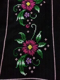 This Pin was discovered by Eme Cross Stitch Art, Cross Stitch Flowers, Cross Stitch Designs, Cross Stitching, Cross Stitch Embroidery, Cross Stitch Patterns, Flower Coloring Pages, Christmas Cross, Ribbon Embroidery