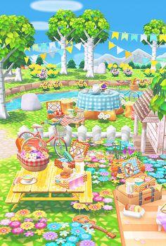 garden picnic party 🦋 - koyo's pocket camp