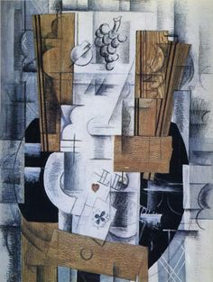 Georges Braque,    Still Life with Playing Cards. 1913. Oil on canvas.