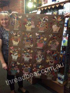 Threadbear: Sharon Ghalayini's English Baskets Quilt