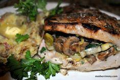 Stuff it! Mushroom and Spinach Stuffed Pork Chops