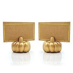 Kate Aspen, Linen Store, Place Cards, Pumpkin, Place Card Holders, Gold, Bags, Accessories, Archive