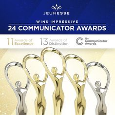 🏆For the fourth straight year, Jeunesse has brought home an armful of honors at the global Communicator Awards — this year, 24 of them! Our Jeunesse Family earned 11 gold Awards of Excellence and 13 silver Awards of Distinction. Eastern Medicine, Cosmetic Shop, Under Eye Bags, How To Increase Energy, People Around The World, How To Stay Healthy, Bring It On, Awards, Europe Europe