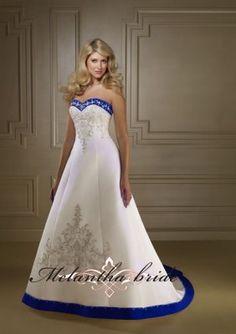 vestidos de novia con color moderno