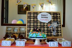 Mr Bean theme party for my nephew Mr Bean Birthday, 7th Birthday, Birthday Parties, Kids Party Themes, Party Ideas, Mr Bin, Megan 4, Happy 1st Birthdays, I Party