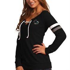 c288dd9ea Antigua San Jose Sharks Women s Black Foxy Lace-Up Sweathshirt Broncos  Gear