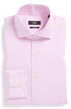 BOSS HUGO BOSS 'Gerald' Regular Fit Check Dress Shirt available at #Nordstrom