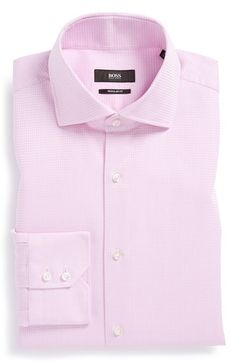 BOSS HUGO BOSS 'Gerald' Regular Fit Check Dress Shirt available at #Nordstrom