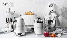 Shop Williams Sonoma for the latest Smeg kitchen appliances. Our collection includes Smeg toasters, Smeg refrigerators, Smeg juicers and Smeg kettles. Kitchen Items, Kitchen Utensils, Kitchen Storage, Cooking Appliances, Small Appliances, Kitchen Appliances, Kitchen Decor Themes, Home Decor, Smeg Kitchen
