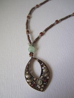 One Of a Kind Handmade Accessories!   Copper and Goldstone Necklace. $25.50, via Etsy.