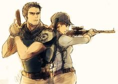 Resident Evil - Chris Redfield and Jill Valentine