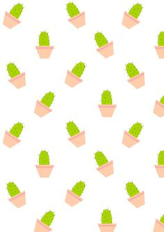 FREE printable cactus pattern paper