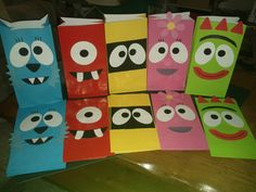Yo Gabba Gabba party favor bags- Special listing for pfadden. $25.50, via Etsy.